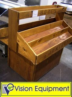 images of produce displays | Wooden Produce Display Table on Casters : Lot 132