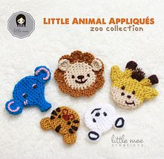 These Little Animal Appliqués can be made flat or 3D! They are worked in the round similar to the form of amigurumi and can be stuffed or made as an appliqué/motif without stuffing :)