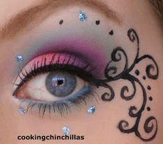 CookingChinchillas: Pink Purple Turquoise futuristic Goth make up