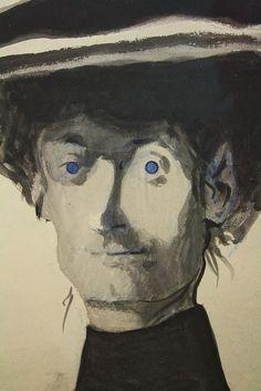 Léon Spilliaert (Belgian, 1881 - 1946) Portrait, 1907 Watercolor