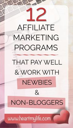 Check out this list of affiliate marketing programs for newbies and non-bloggers. Earn a passive income from affiliate marketing through pinning. Make your Pinterest habit work for you!