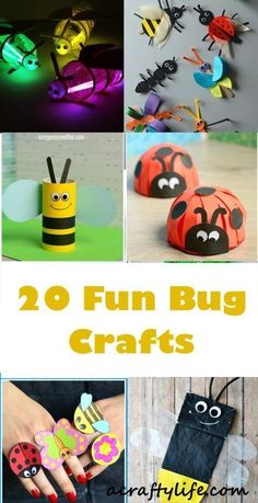 bugs craft - insect craft - kids craft - acraftylife.com #kidscrafts #preschool #craftsforkids