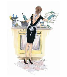 kitchen cooking illustration