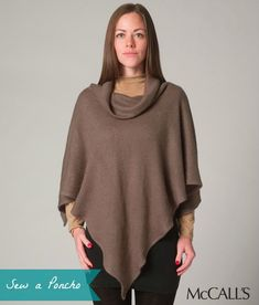 Make a poncho as a gift this season. They're stylish and quick to sew. Details on our blog.