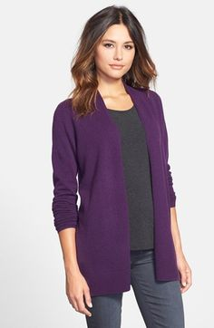 Nordstrom Collection Open Front Cashmere Cardigan available at #Nordstrom