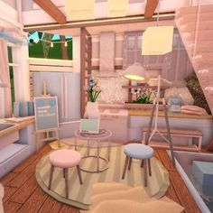 #roblox #robloxbuild #bloxburg #robloxgame Unique House Design, Dream Home Design, Home Design Plans, Neutral Bedroom Decor, Cute Bedroom Decor, Tiny House Layout, House Layouts, House Plans With Pictures, Home Building Design