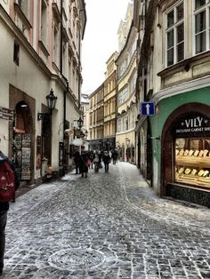 | ♕ | Prague - winter alley | by © buhbuhbilly via ysvoice : unejeunedemoiselle