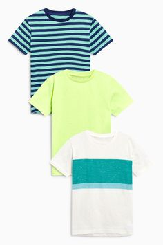 Buy Multi Striped T-Shirts Three Pack (3-16yrs) from Next South Korea