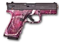 I normally don't like pink on a gun but this is awesome.