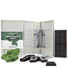 2 tabletas de chocolate negro con hierbabuena de Mekong Zaabär
