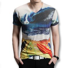 2017 iSurvivor Men Fashion Summer Short Sleeved T Shirts Tees Tops Camiseta Masculina Male Casual Fitness V Neck T Shirts Hombre #Affiliate