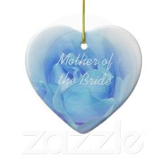 Mother Of The Bride Blue Rose Ornament #motherofthebride #weddings #ornaments