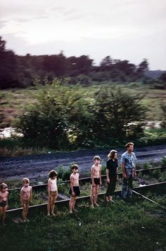 Watching RFK's funeral train pass by, June 8th 1968
