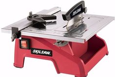 Skil Adjustable 7-Inch Accurate Straight Miter Cut Wet Tile Saw Power Hand Tools #saw #tile #mitercut #powertool #tilesaw