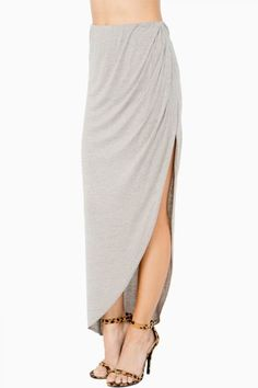 ASYMMETRICAL JERSEY MAXI SKIRT-need in black