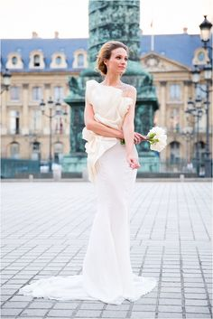 Couture wedding dress in Paris by Paolo Corona Paris