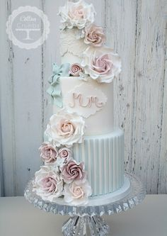 Stripes & Roses. Ok, not a wedding cake but I would be so thrilled to be able to present my mum with a cake like this from Cotton and Crumbs.