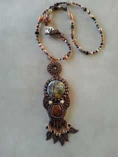 Natural copper and petrified wood-$225