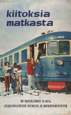 Fred Runebergin Kiitoksia matkasta 1960-luvulta. Kuva: Suomen Rautatiemuseo