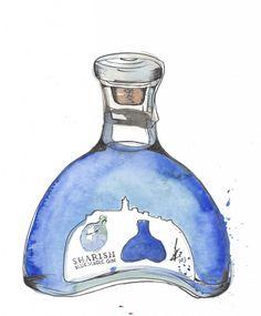 de winton paper co gin illustration sharish gin