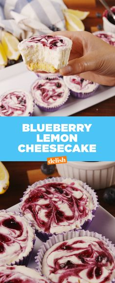 Lemon + Blueberries + Cheesecake = the ultimate summer combo. Get the recipe from Delish.com.