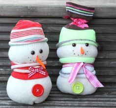 Adorable Sock Snowmen - The Supermums Craft Fair #craft