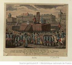 Fin tragique de Maria Antoinette Executé le 16 October 1793 Sur la Place de Louis XV dite place de la Revolution