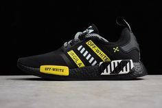 d2605c042 Latest and Cheapest OFF-White adidas NMD Black White Yellow adidas Running  Boost For Sale