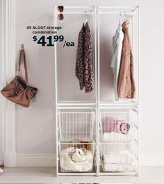 ALGOT  $41.99  [Good for laundry room: hang dry, baskets.]
