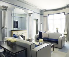The Linley Suite, Claridge's, London  My bags are here....Lovely rooms await each Lady. Harry and I are retiring early. See you in the morning♥
