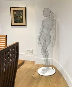 """47 Me gusta, 3 comentarios - J o s é L u i s R a y o s (@joseluisrayos) en Instagram: """"""""Bárbara"""", 2017 Escultura en malla metálica electrosoldada de acero galvanizado al natural. #11mm…"""""""
