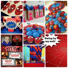 Spiderman Birthday Party Theme | Abby Creative Designs by Abby Sue