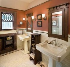 Lovely Arts And Crafts Bathroom Hill House Traditional New York Carisa Mahnken Design Guild I D Choose A Diffe Color For The Walls