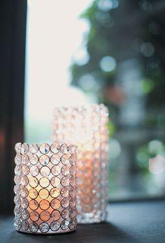 Pretty crystal votives. Photo by Elisabeth Millay with Kelly Kollar.