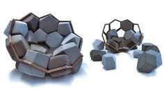 МОДУЛЬНОЕ КРЕСЛО-КОНСТРУКТОР QUARTZ CHAIR: МЕТАЛЛ, ДЕРЕВО И ПЕНА. (4 ФОТО) Quartz Chair - необычное модульное кресло, стилизованное под кристалл кварца. Выполненный из алюминия и массива бука каркас, заполняется съемными многогранными элементами из пены, которые также можно использовать отдельно, как необычные табуреты для гостей.  Читать всё: http://avivas.ru/topic/modulnoe_kreslo_konstruktor_quartz_chair_metall_derevo_i_pena.html