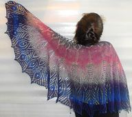 Ravelry: Sirin Bird RUS / Шаль Птица Сирин pattern by Natalia Sha