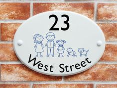Have your family members represented as cute stick figures on this personalised oval house plaque. 41 catoon stick characters to choose from including pets House Plaques, Stick Family, Family Signs, Stick Figures, Home Signs, Decorative Plates, Stick Figure Family, House Signs
