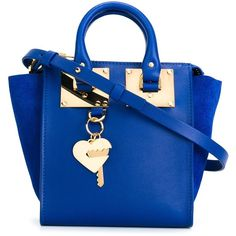 Sophie Hulme heart key plaque tote (€640) ❤ liked on Polyvore featuring bags, handbags, tote bags, blue, purses, blue tote, blue tote handbags, heart shaped purse, tote handbags and tote purses