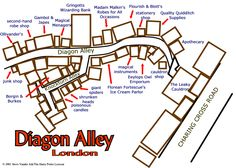 Map of Diagon Alley © SVA
