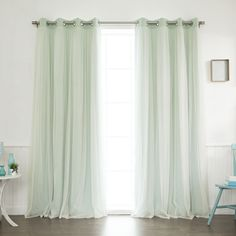 You'll love the Anabelle Tulle Thermal Blackout Energy Efficient Grommet Curtain Panel Pair at Joss & Main - With Great Deals on all products and Free Shipping on most stuff, even the big stuff.