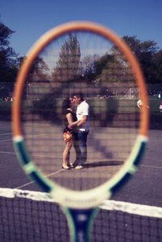A Cute Tennis Themed Engagement