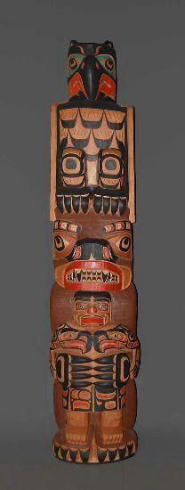 Haida Totem pole Native Art, Native American Art, Le Totem, Haida Gwaii, Haida Art, Inuit Art, Tlingit, Coastal Art, Aboriginal Art