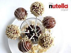 Receta: Cake pops de Nutella (Bizcobolas) -- Con almendras - YouTube