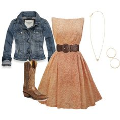 """Vintage meets Western"" by stylistbrandi on Polyvore"