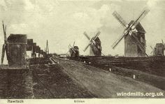 This month we have three old images of the ten or so windmills, which could once be found in the town of Rawitsch / Rawicz, of what is now Poland. At the time the photographs were taken the area was part of Prussia, Germany. Unfortunately, all the mills in the area are now no more.
