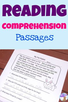 Reading Comprehension Passages for primary students with 20 fiction & non-fiction passages with 4 comprehension questions each.  Good for second grade.
