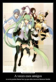carteles amigos amigos familia anime vocaloid cfanloid miku len rin meiko gakupo desmotivaciones