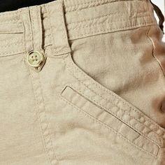 The Collection Beige stitched pocket linen blend trousers Twill Pants, Cotton Pants, Indian Men Fashion, Mens Fashion, Men Trousers, Tactical Clothing, Men Design, Pants Pattern, Fashion Details