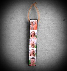Personalized Ornament Stick with photo's by Blocks From The Heart
