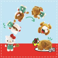 It's turkey time with Hello Kitty! This supercute Hello Kitty reversible plush turns inside out and transforms into a turkey. Just in time for Thanksgiving! Hello Kitty Toys, Sanrio Hello Kitty, Chicken Cat, Hello Kitty Collection, Sanrio Characters, Happy Thanksgiving, Funny Pictures, Teddy Bear, Pop Culture